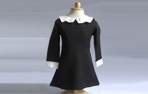 7. Black dress with white collar
