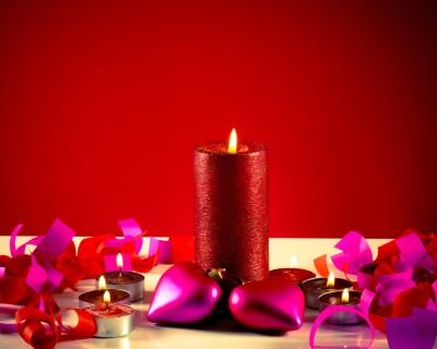 1. Homemade scented candles