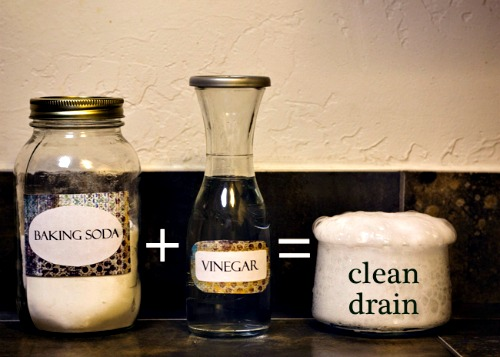 Get drains unblocked and burnt pans clean — with vinegar and baking soda