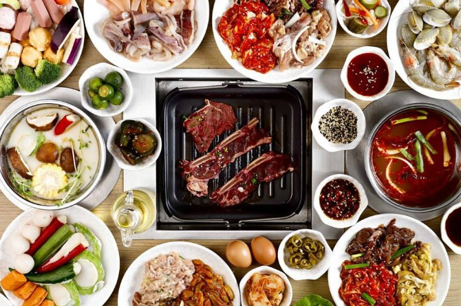 Korean table barbeque