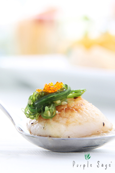 Pan-seared Scallop with Cucumber and Ponzu Dressing