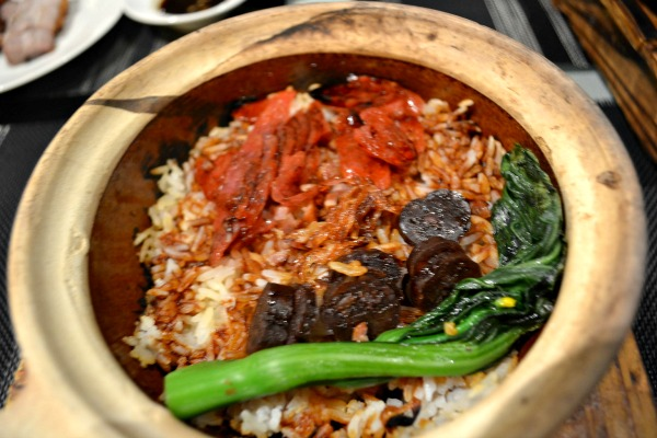 The chef-recommended claypot rice