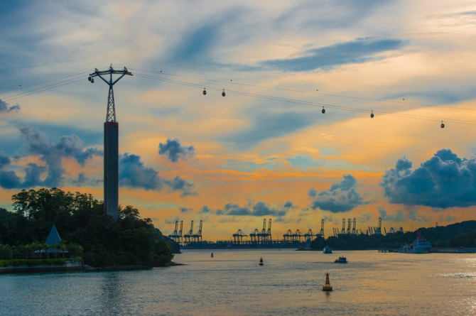 Celebrate in the sky in a Singapore Cable Car