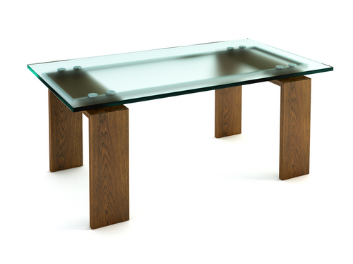 Tables with glass insets