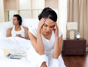 Allowing stress to interfere with sex
