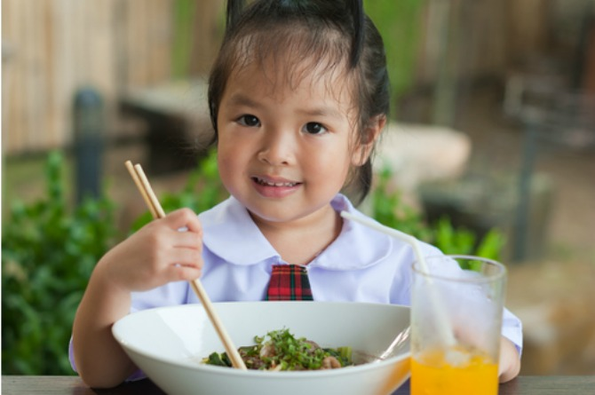 6. Raise your child with healthy eating habits.