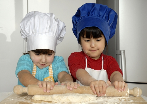 1) Bake with mommy!