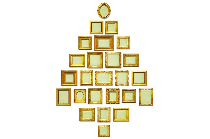 Tree of picture frames