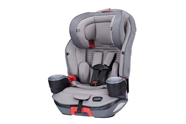 Evenflo Evolve Platinum 3-In-1 Combination Booster Seat, Charcoal Stripe