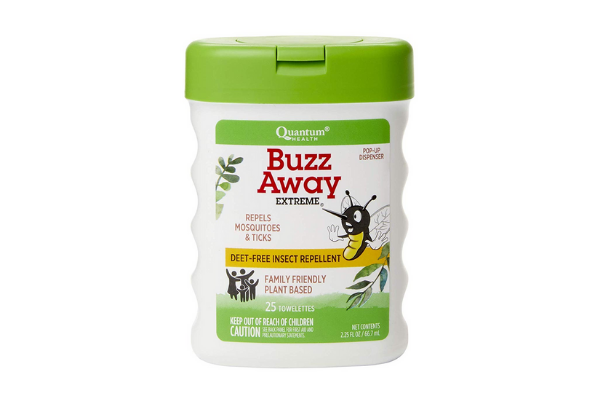 Quantum Health Buzz Away Extreme Insect Repellent Wipes