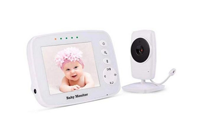 Video Baby Monitor Wireless Night Vision Dual View Video