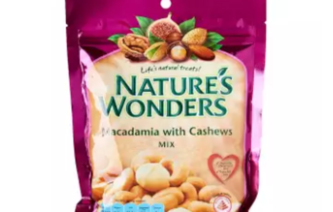 Nature's Wonders Baked Macadamias And Cashew Nuts