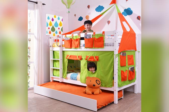 Florida Low bunk bed with kids