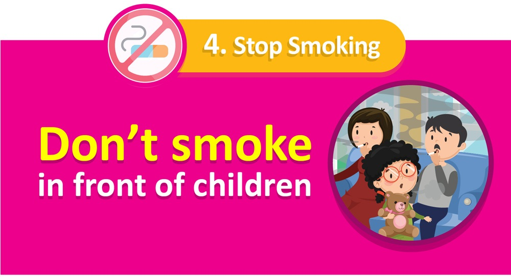 Increase child immunity | Quit smoking!