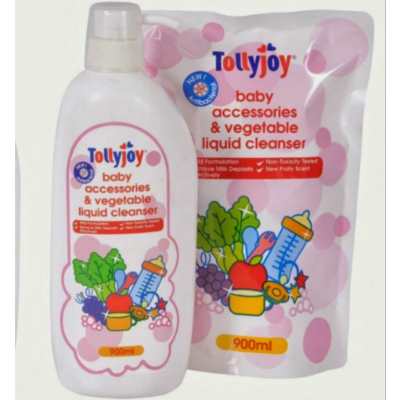 Tollyjoy Baby Accessories & Vegetable Liquid Cleanser 900ML (Bottle/Refill Pack)