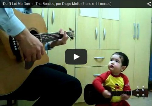 Father and toddler sing Beatles cover - Watch this cute video!