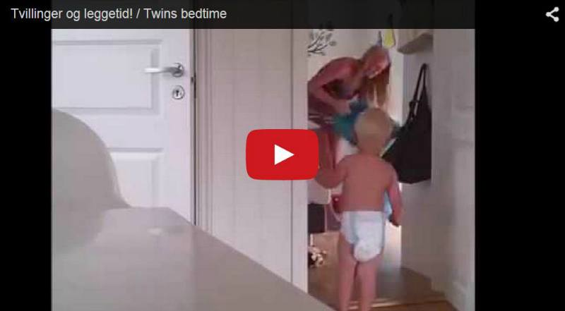 Twins' bedtime, nightmare for mum - Watch this video!