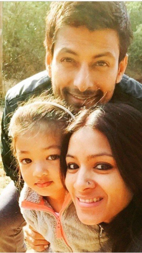 Barkha Bisht with family