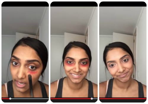 How to get rid of dark circles - The red lipstick trick!