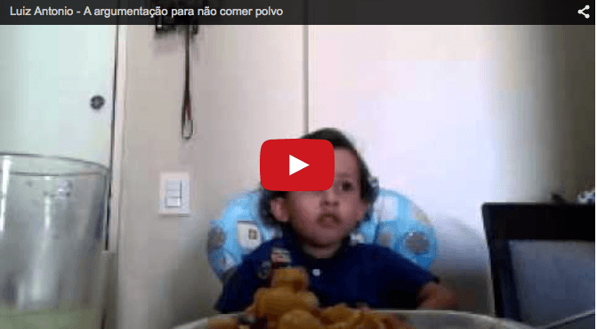 Funny baby video- Little Luiz has something to say!
