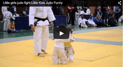 Cute Alert: Two tiny girls judo fight their way out