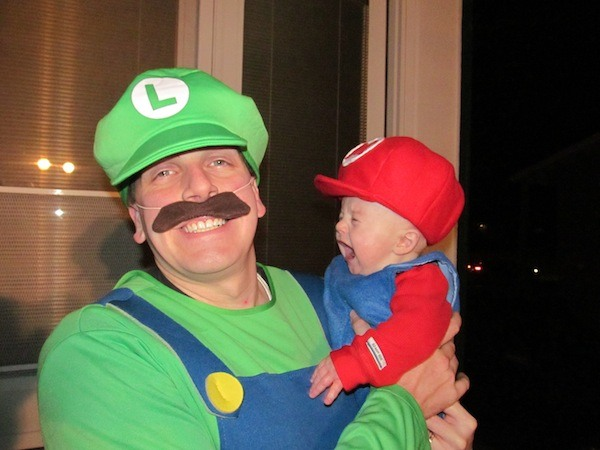 Funky daddy-baby cosplay ideas!