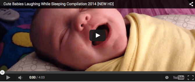 Funny baby video: Babies laugh in sleep