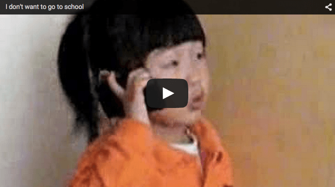 Funny baby video: She doesn't want to go to school!