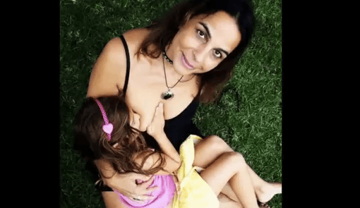 52-yr-old still breastfeeding her 6-yr-old