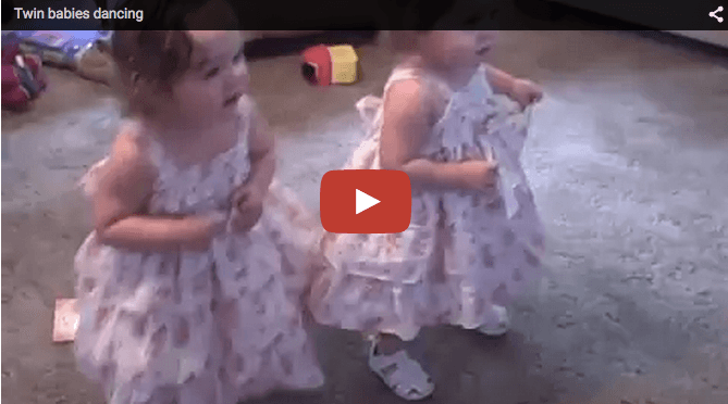 Cute baby video: Twin girls dance away