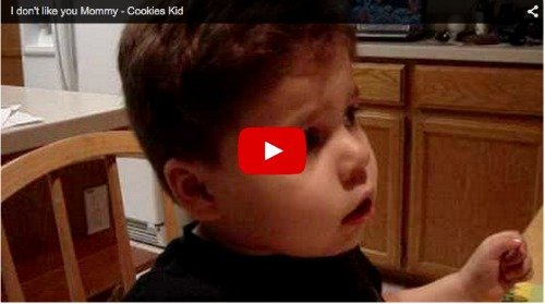 Boy loves mum, but not all the time! Funny baby video