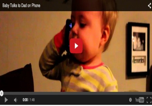 Funny baby video: Watch him talk to his dad