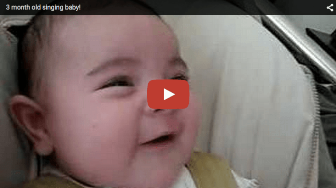 Cute baby video: 3-month-old sings along