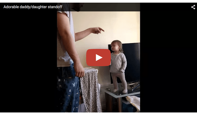 Cute baby video: Funny Dad-baby stand-off!