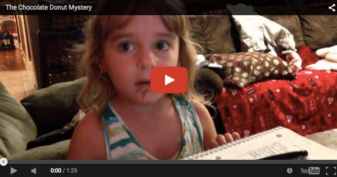 Funny baby video: I didn't eat no doughnut!