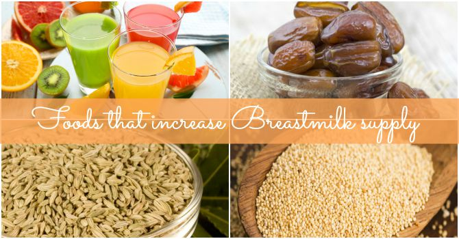 How to increase breast milk with food