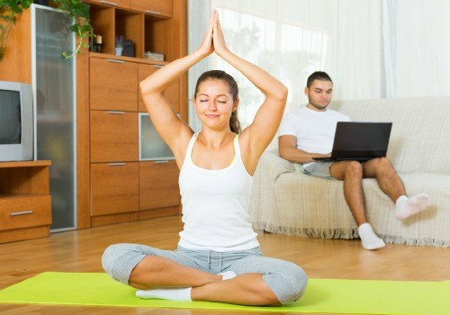 Practice yoga asanas according to vastu