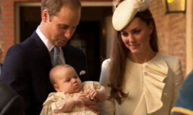 Royal princess Charlotte wears lace satin gown for christening