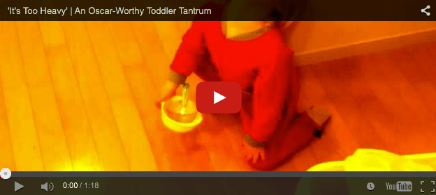 Almost unreal award-winning act by toddler drama queen