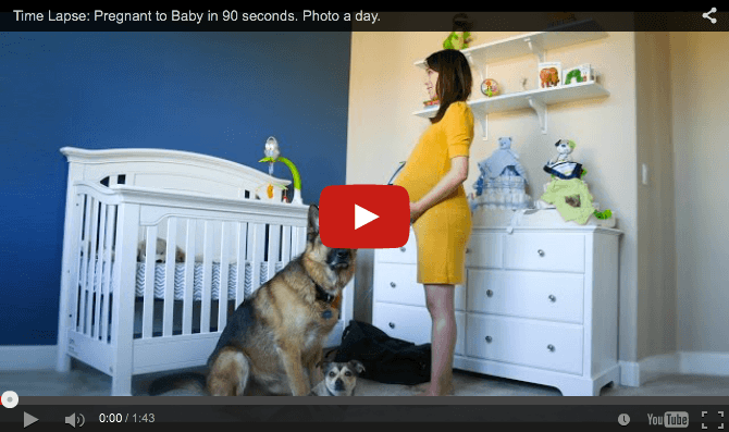 Hypnotic pregnancy-to-baby time lapse in 90 seconds