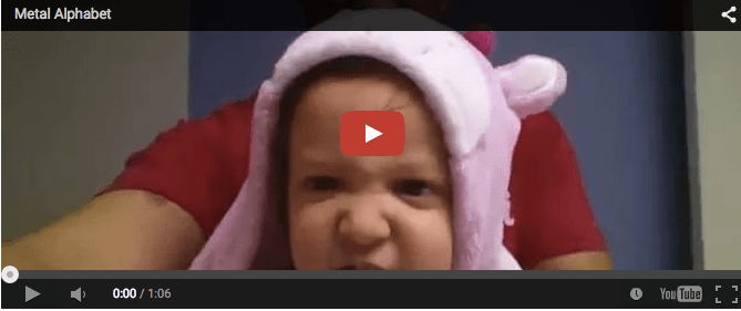 Genius toddler recites rock version of ABC