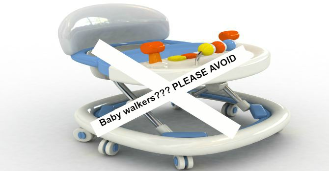 Beware: Baby walkers may delay normal walking