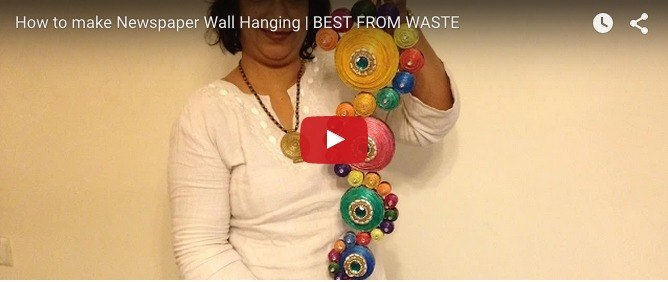 Easy DIY idea for a fancy wall hanging