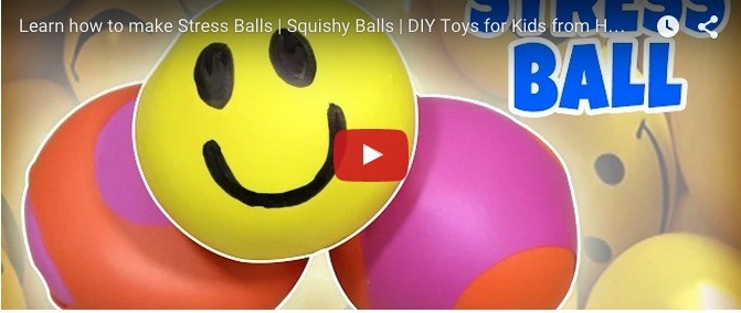 DIY for children: How to make squishy balls