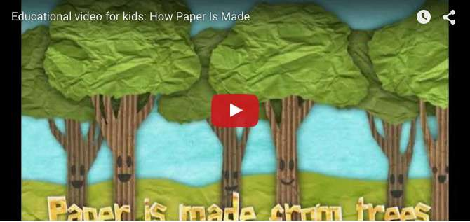 Amazing infotainment video for children on how paper is made