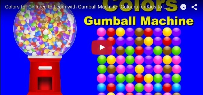 Fun and educational video for toddlers on identifying colours