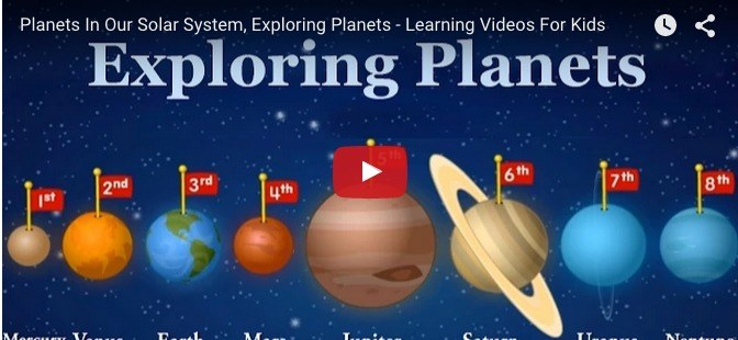 Teach your child all about planets with this fun learning video