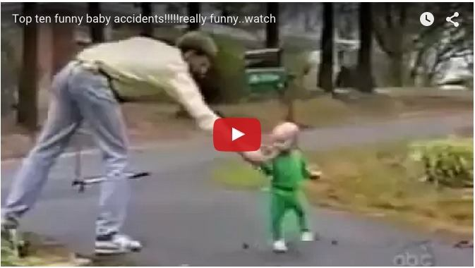 What happens when kids meet accidents: Funny baby video