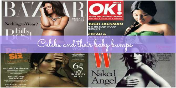 Pregnant celebs on magazine covers