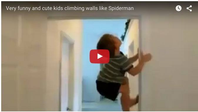 These kids can climb wall like a Spiderman: Amazing baby video